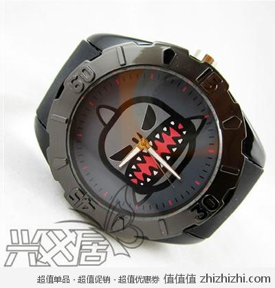 彩特手表_caite 彩特 搞怪大鲨鱼卡通个性时尚男士手表 一折限购 卓越:¥7.8