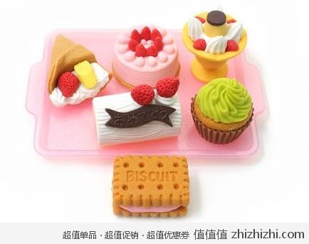 可爱!iwako 岩泽 安全橡皮造型 甜点拼盘 美国amazon历史最低价$6.72