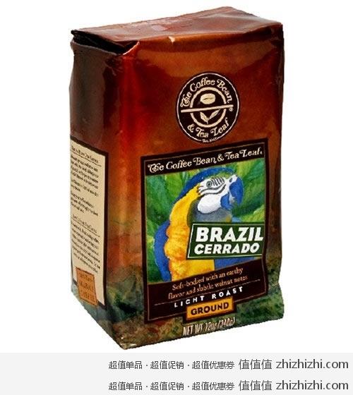 The Coffee Bean Tea Leaf 纯手工烘焙 巴西塞拉多咖啡粉 2包装 12盎司 包 美国Amazon 6.29