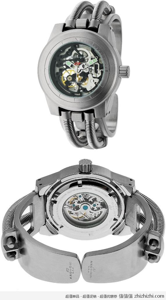 液压轴承自动上弦机械机芯,外观看上去就像一个机器手表,样子比较科幻图片