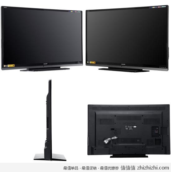 夏普 SHARP LCD 52DS50A 52寸全高清智能LED液晶电视 京东商城价格7299包邮 领劵下单立减600,节补400,