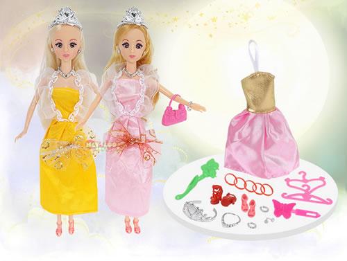 儿童玩具!芭比娃娃公主套装
