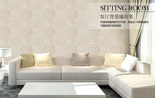 客厅卧室简约欧式环保无缝墙布