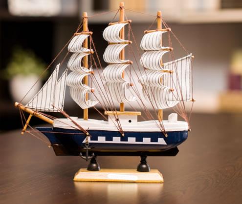 木质帆船,纯手工制作,做工细腻