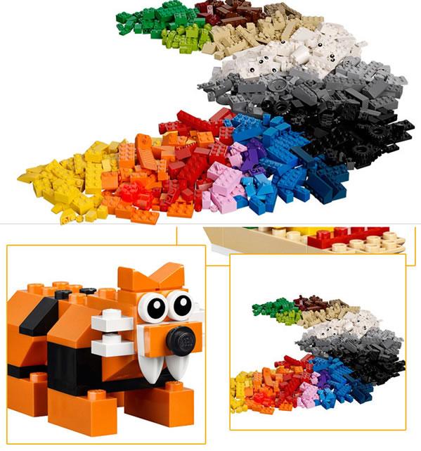 到动物,丛林或太空火箭,能够限制孩子拼砌能力的只有他们自己的想象力