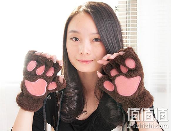 【包邮】可爱卡通猫咪爪子手套