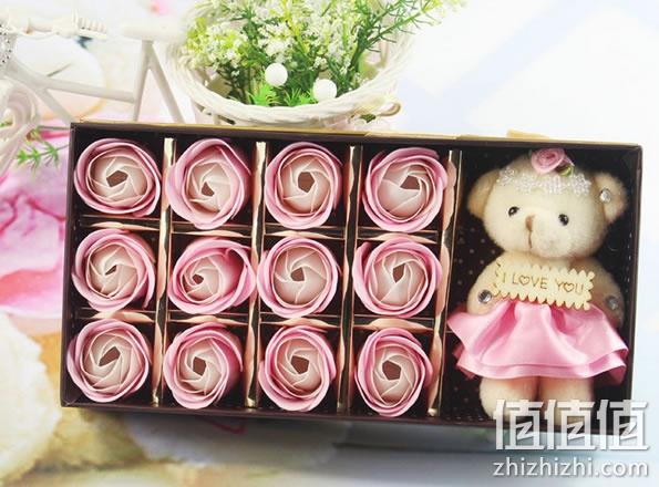 玫瑰花香皂礼盒9.9元包邮