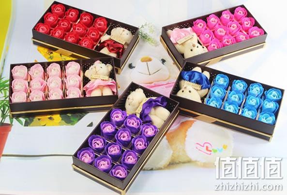 【包邮】玫瑰花香皂礼盒