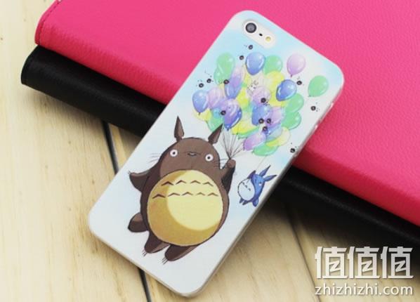 苹果龙猫可爱彩绘手机壳
