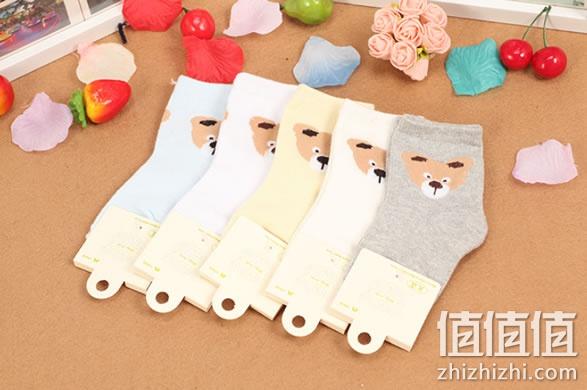 儿童纯棉松口花边袜子