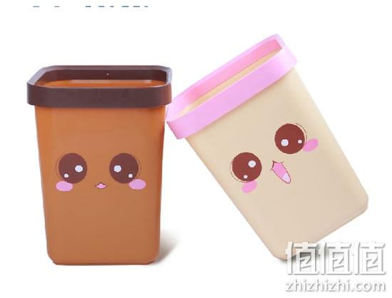 百家好世 大号卡通创意塑料筒垃圾桶