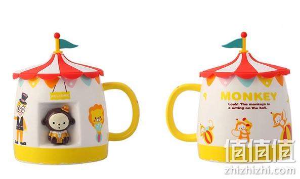 淘便宜 居家百货 厨具 水杯水壶 马戏团动物陶瓷杯35