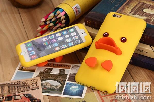 苹果可爱硅胶手机壳