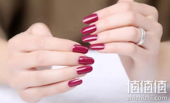 法式纯色美甲指甲贴纸