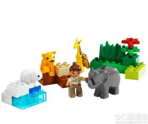 乐高4962 得宝主题拼砌系列小宝宝动物园119元