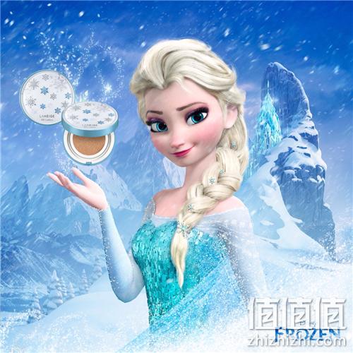 无瑕雪颜冰肌闪耀!兰芝 气垫BB霜 迪士尼冰雪女王限量版