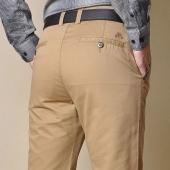 战地吉普男士纯棉宽松直筒休闲裤